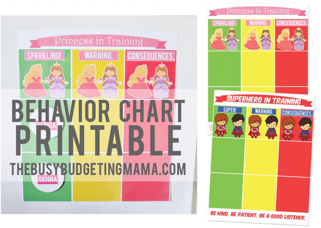behavior chart-thebusybudgetingmama
